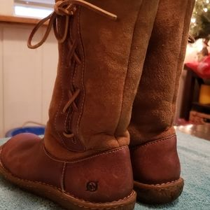 Leather born boots size 7